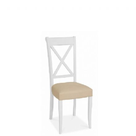 Hampstead Two Tone Ivory Bonded Leather X Back Dining Chair